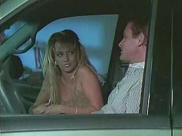 Retro mollycoddle getting her pussy nailed next to the motor vehicle